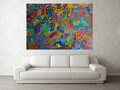 (Available Now) Land and Ocean unite as one 145cm H x 210cm W by 4cm D.