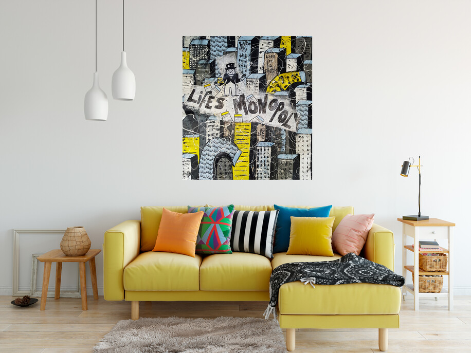 (Available Now) Life's Monopoly Original Painting