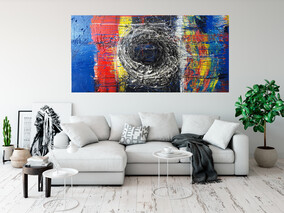 (Available Now) The Portal Original Painting- 173cm x 87.5cm 4.5cm