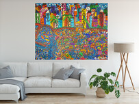 (Available Now) City by the Bay 173 x 136 x 4.5cm