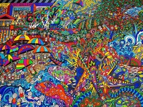 (SOLD) - The Australia Way Original artwork 168.5cm x 124cm x 4cm