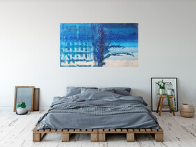 (Available Now) Blue Beyond- 142cm x 80.5cm x 4.5cm