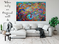 (SOLD) Underwater Reef Original Painting 198cm x 137cm x 4.5cm (Distressed Finish)
